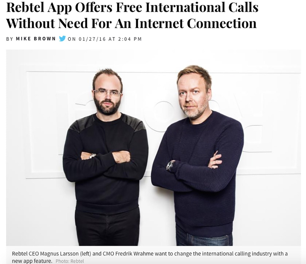 International Business Times: Rebtel App Offers Free International