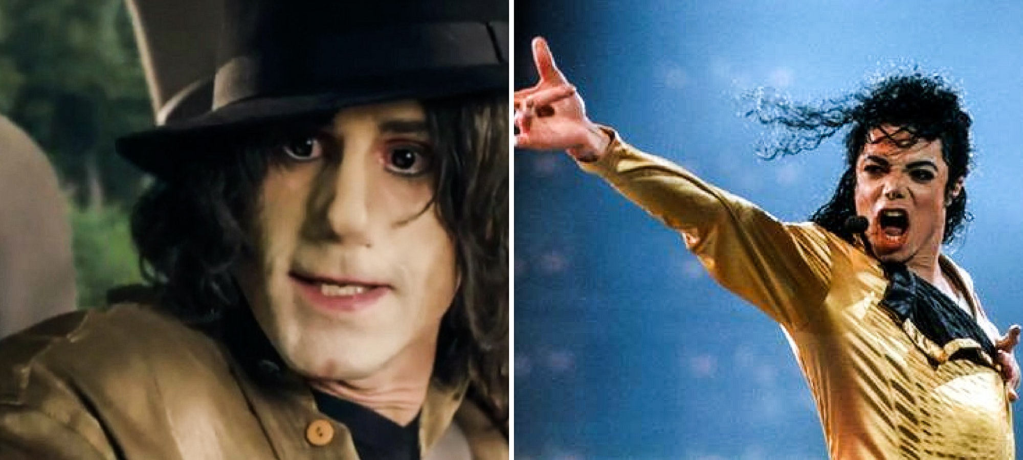 Joseph Fiennes as Michael Jackson.